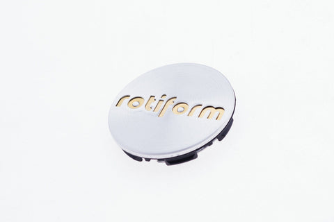 Rotiform Push-in Center Cap - Machined Silver & Gold - Rotiform Wheels