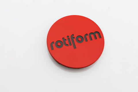 Rotiform Truck Center Cap - Black & Red - Rotiform