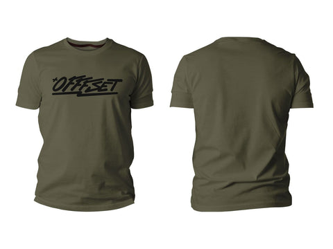 Offfset Logo Shirt - Army Green / Black - Rotiform Wheels
