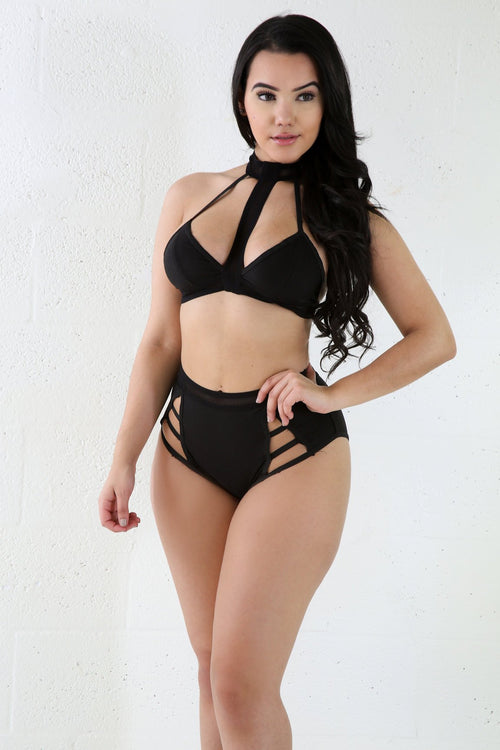 Fashion Racer Two-Piece Bathing Suite