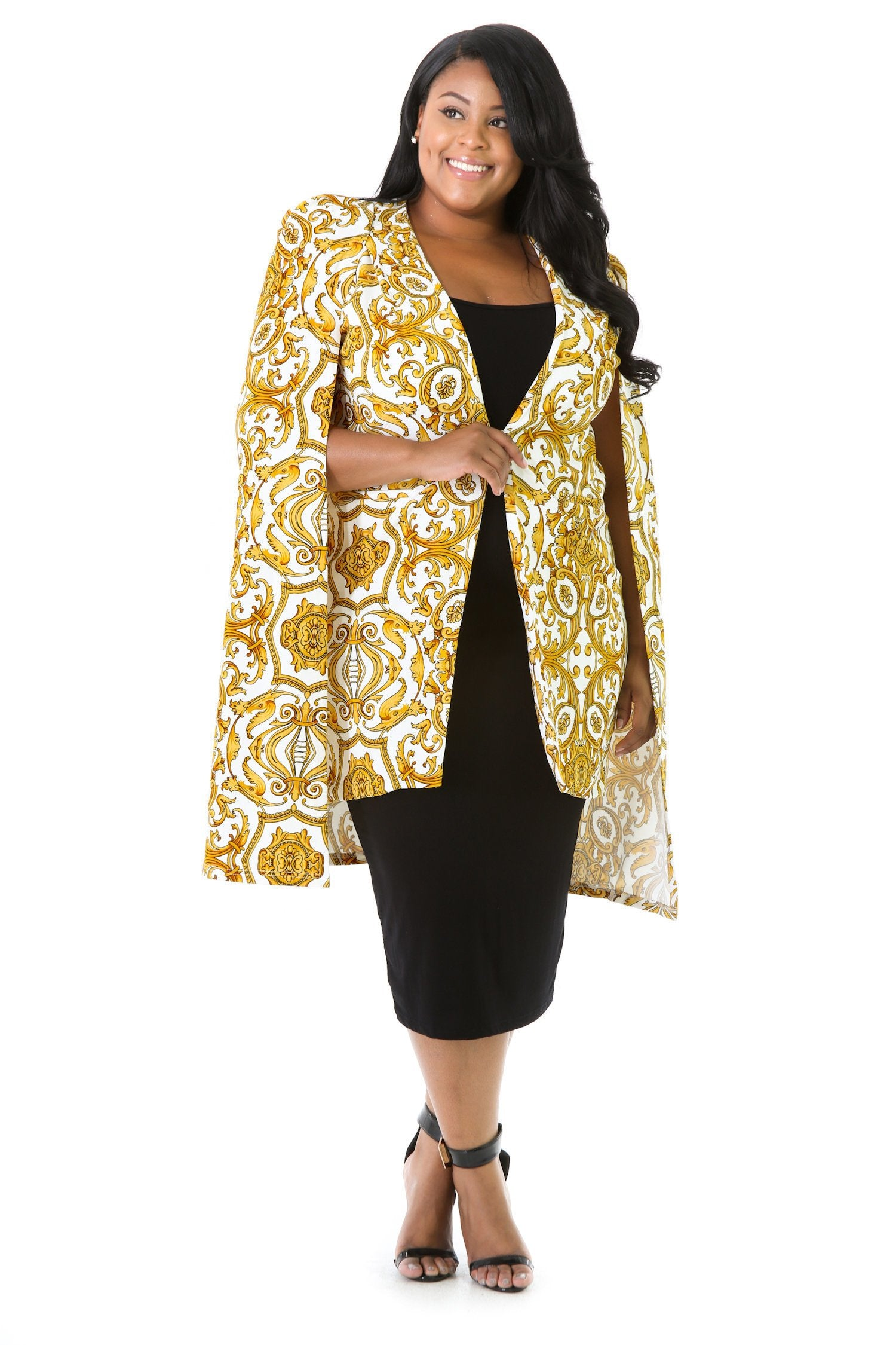 Golden Cape Blazer