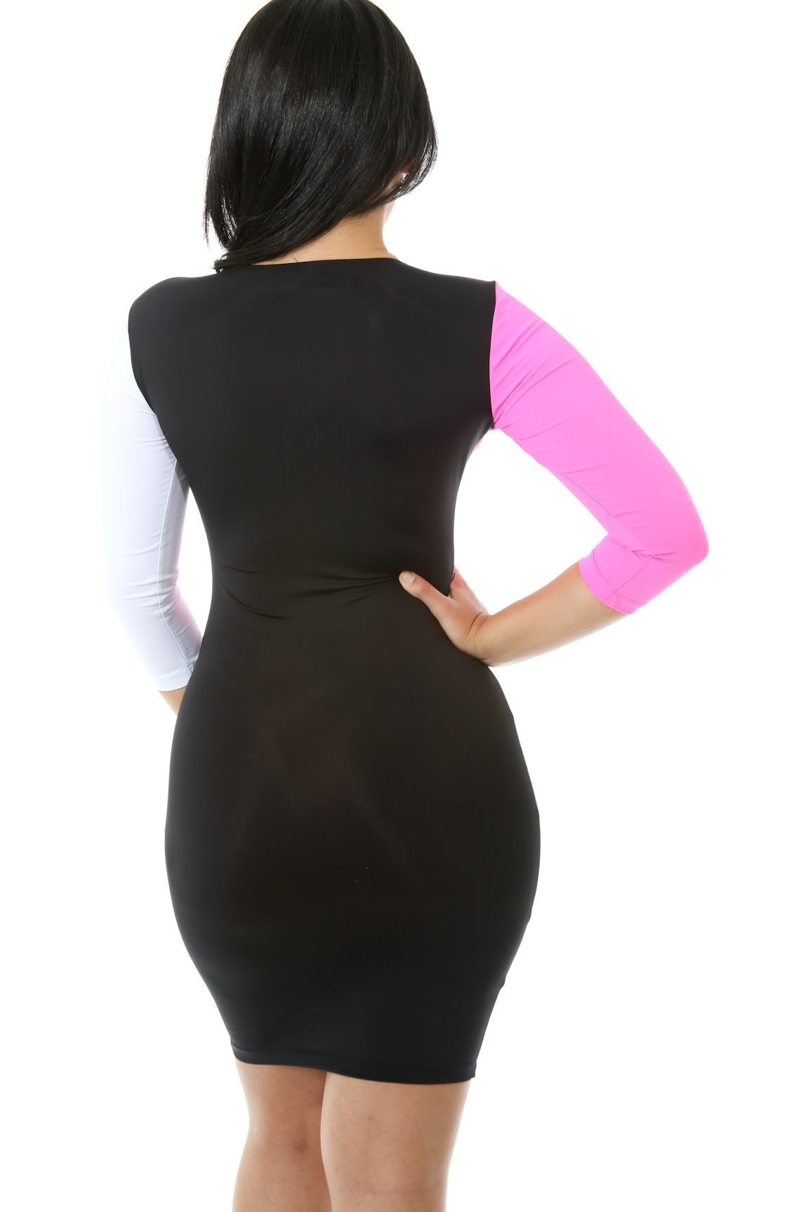 Mod Grid Bodycon Dress