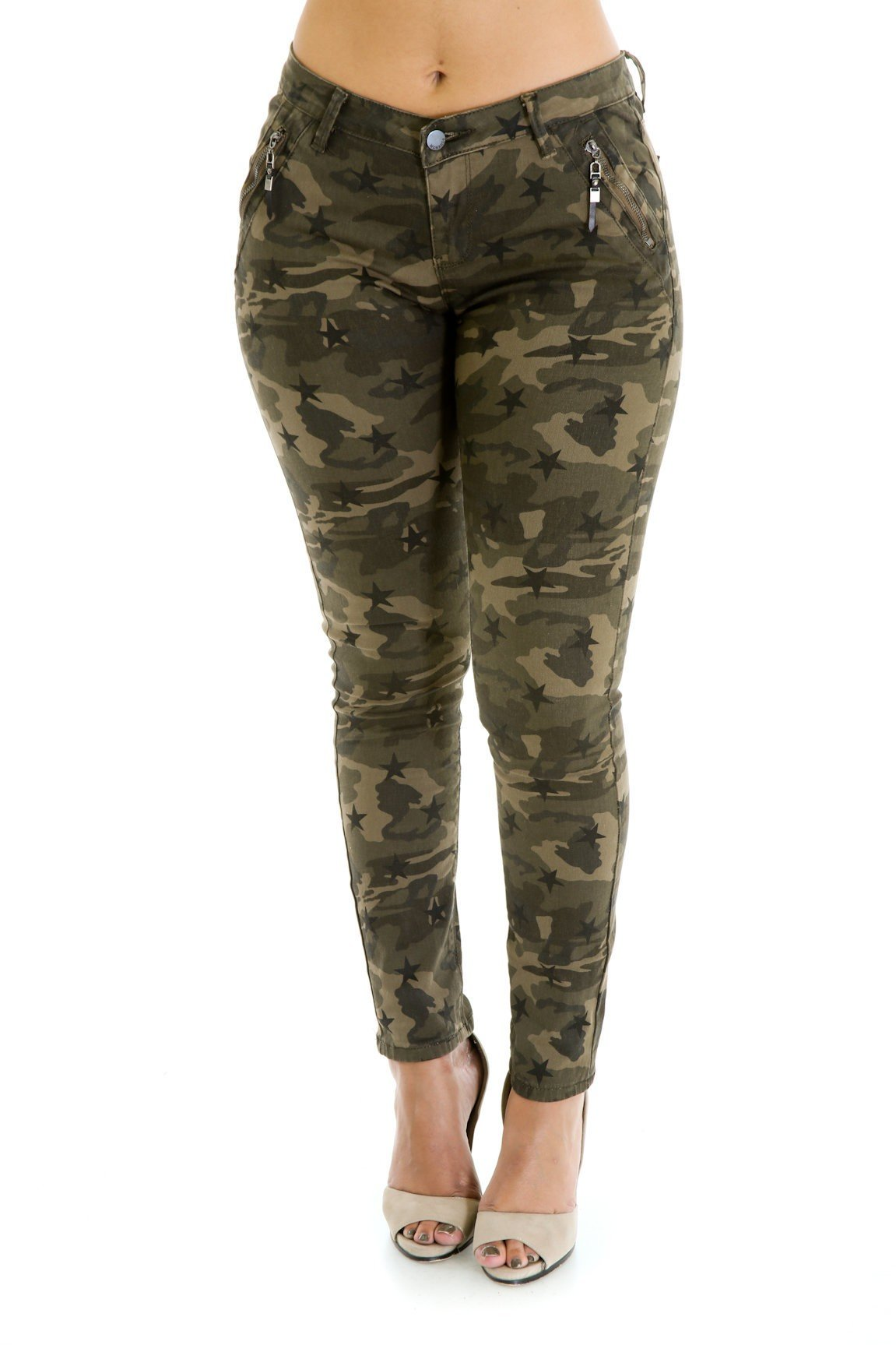 Camo Fitted Pants