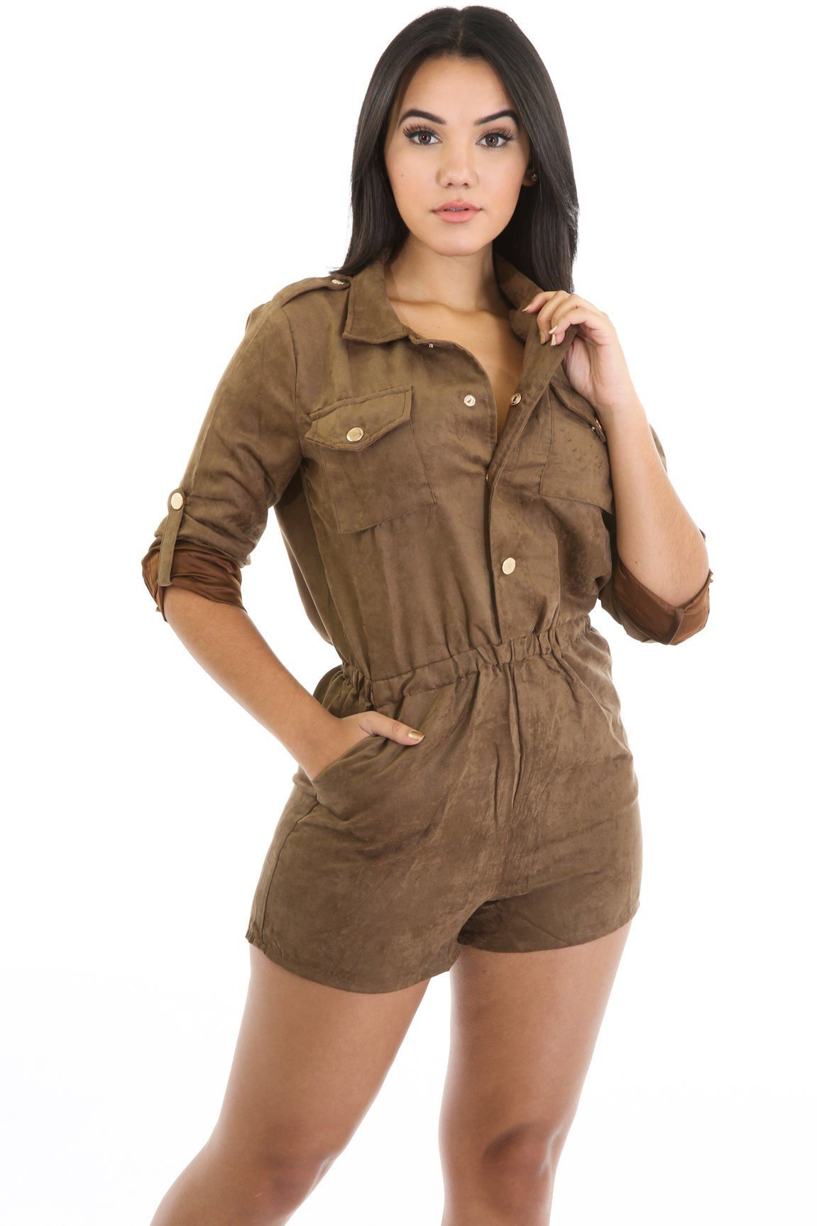 Suede Perfection Romper