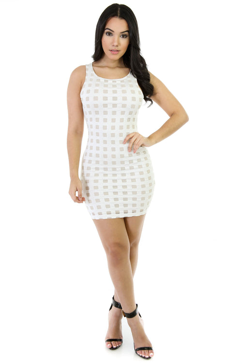 Boxed Bodycon Mini Dress