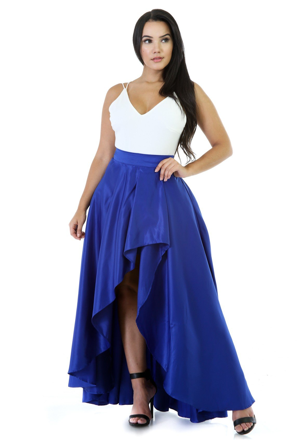Maxi Comfortable Flare High-Low Skirt | vendor-unknown