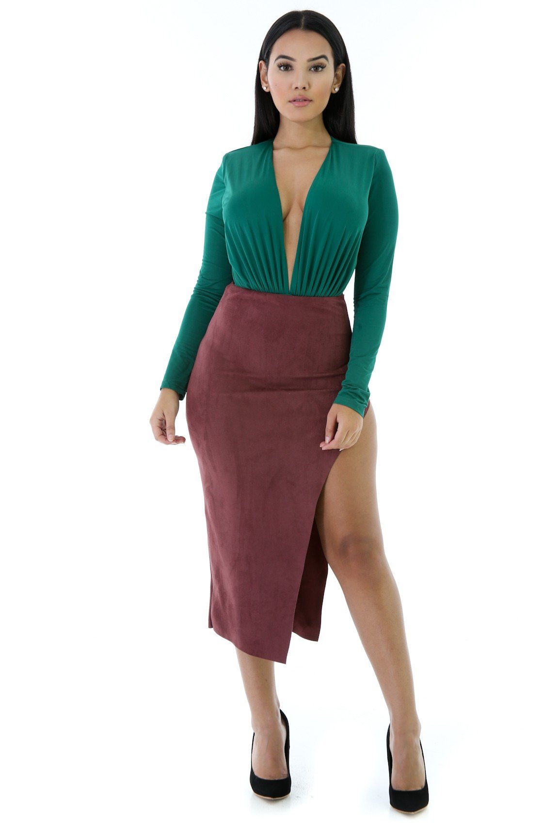 Dashed in Suede Skirt