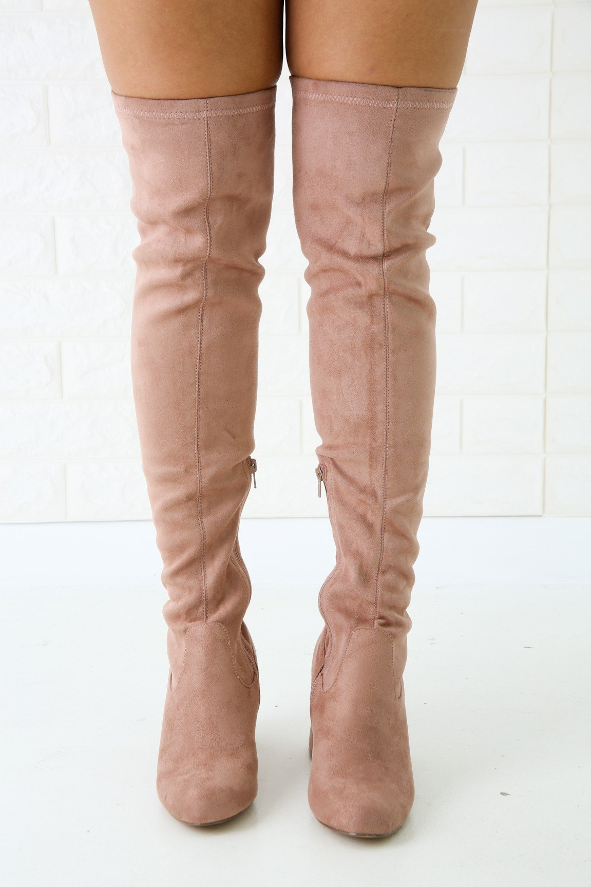 Wild Diva Lounge Chunky Heeled Over-The-Knee Boots | vendor-unknown