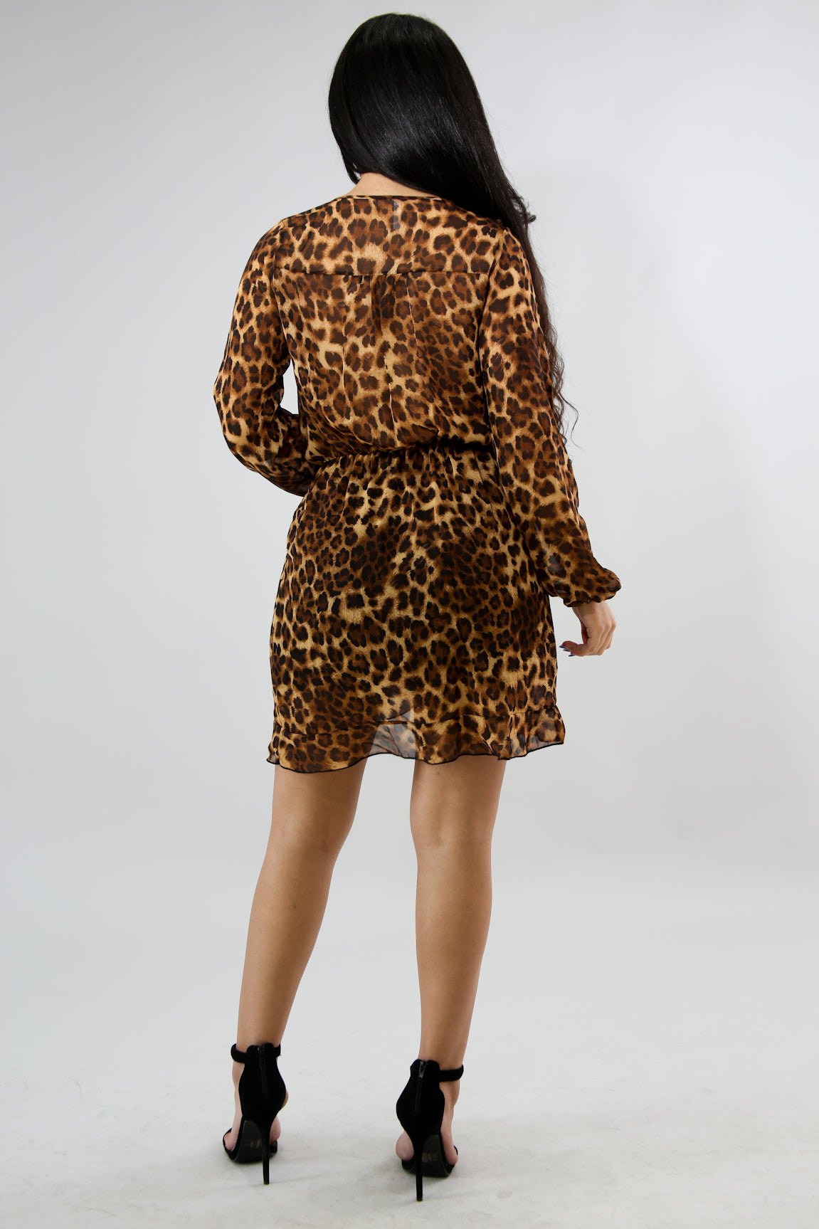 Cheetah Flare Bodycon Dress