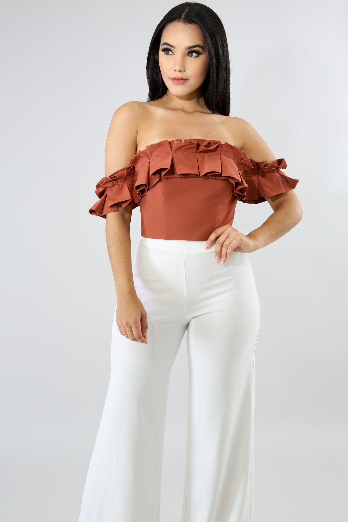 Pleated Crop Top | GitiOnline