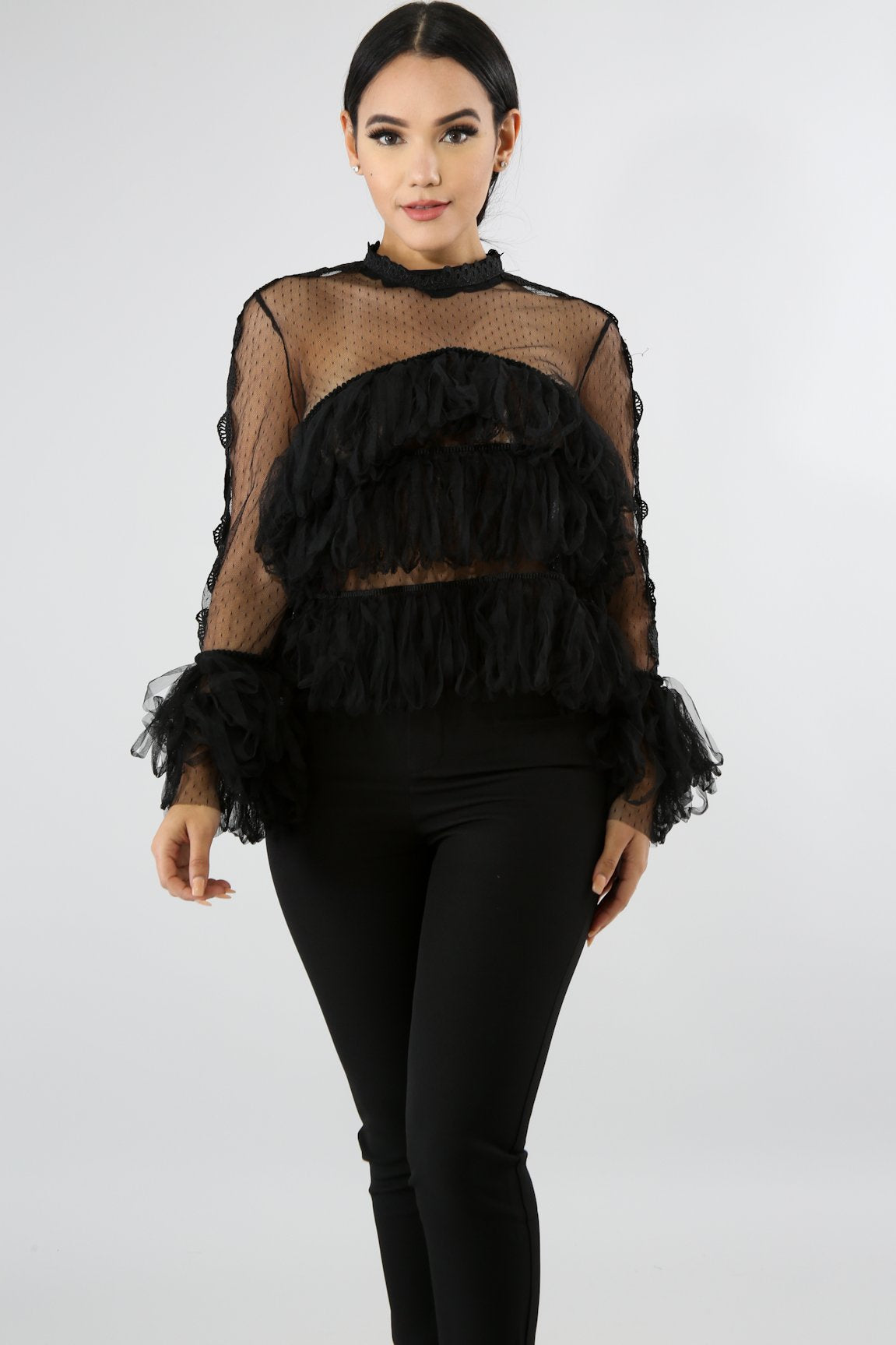 Sheer Medusa Top