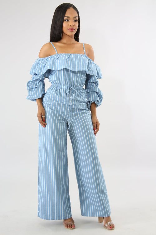 Ruffle Ruched Jumpsuit