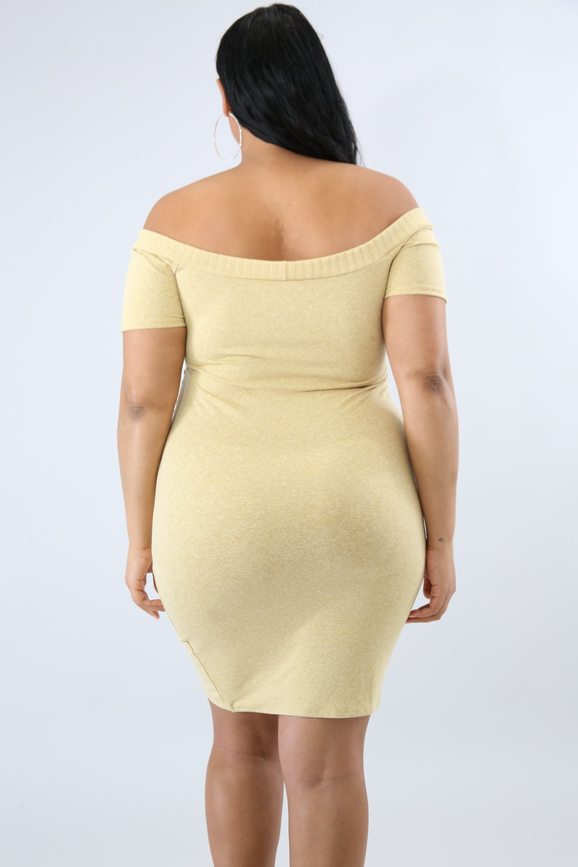 Scrunched Overlay Body-Con Dress | GitiOnline