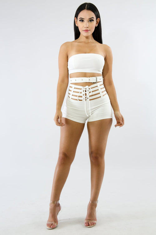Tube Belt Crop Top | GitiOnline