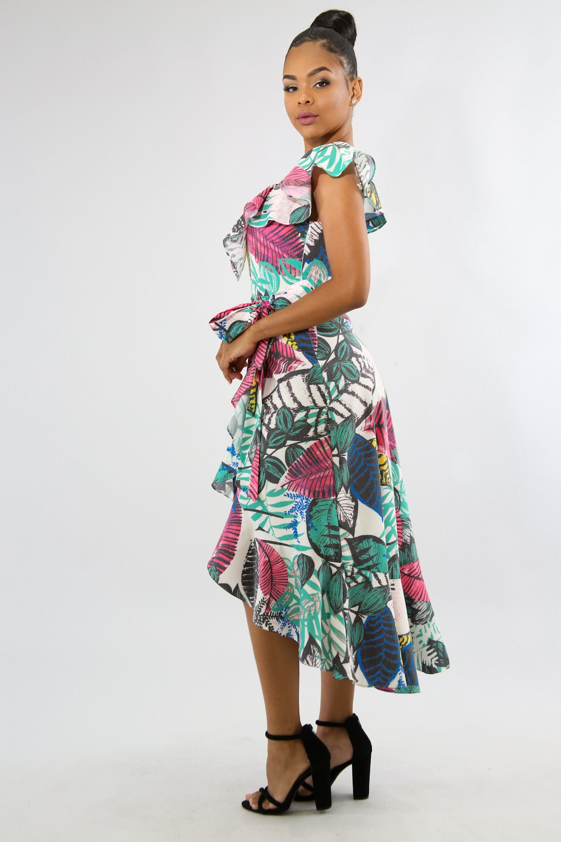Paradise Floral Midi Dress | GitiOnline