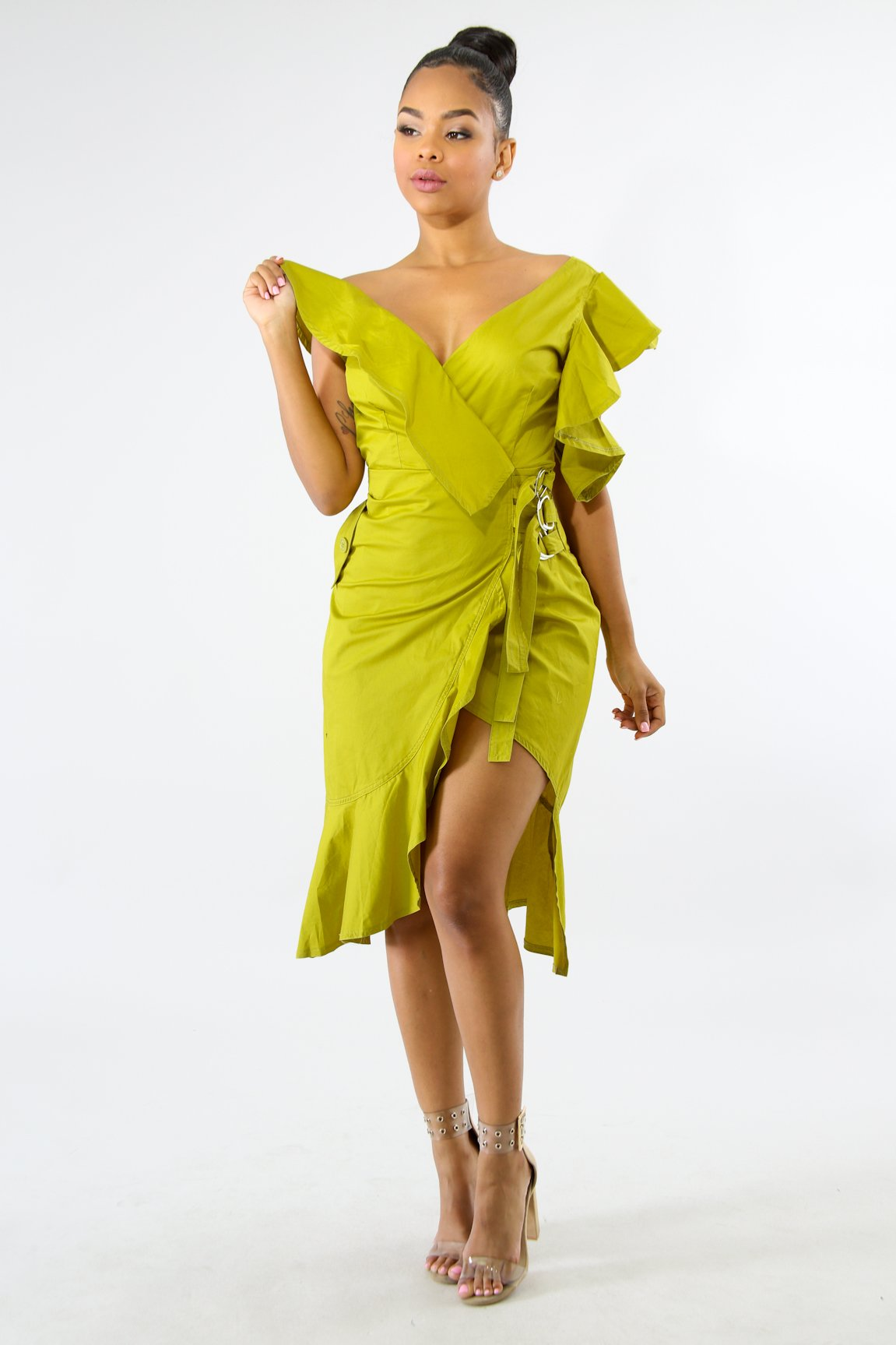 Flare Ruched Dress