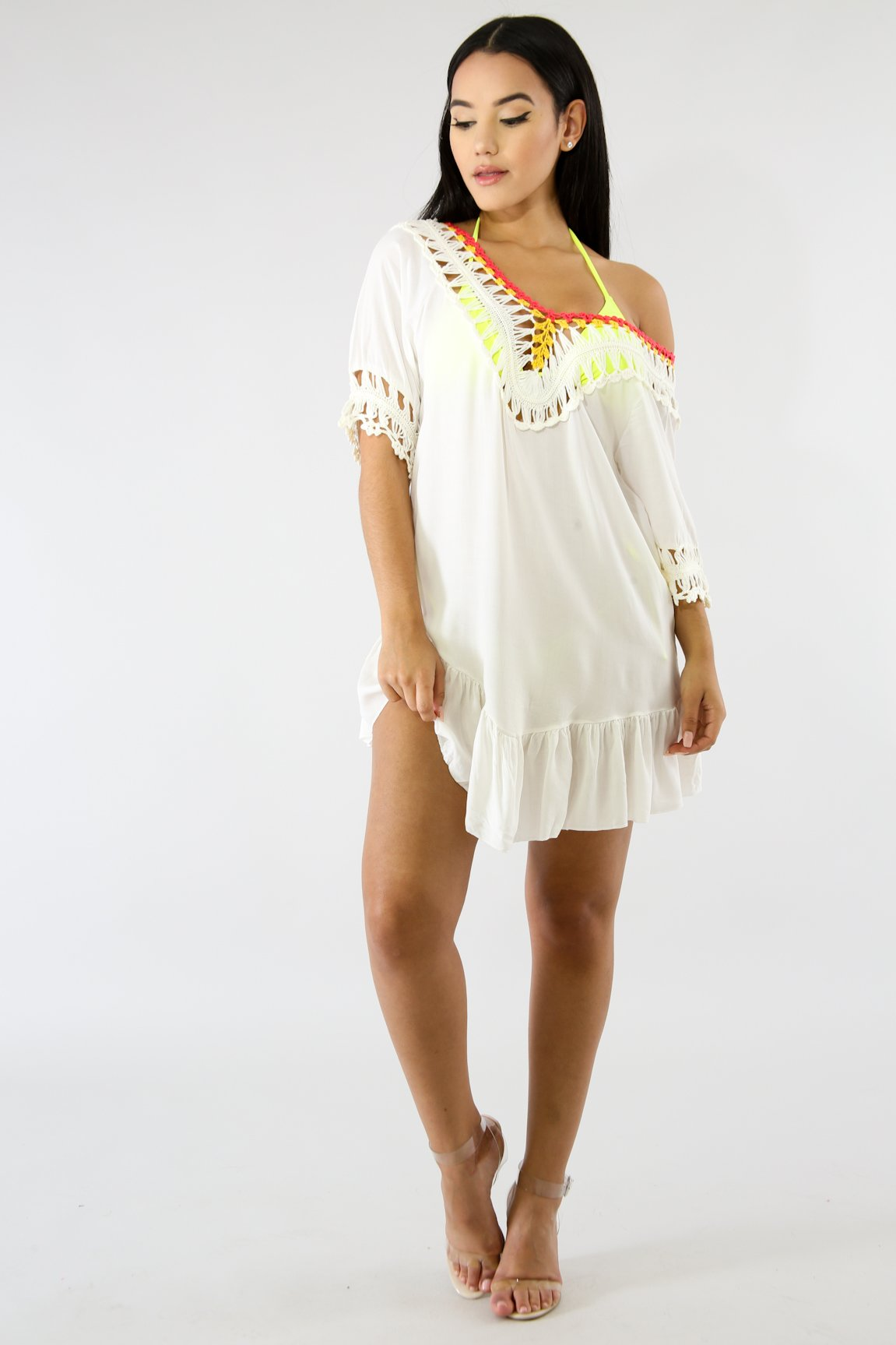 Crochet Color Tassel Top | GitiOnline