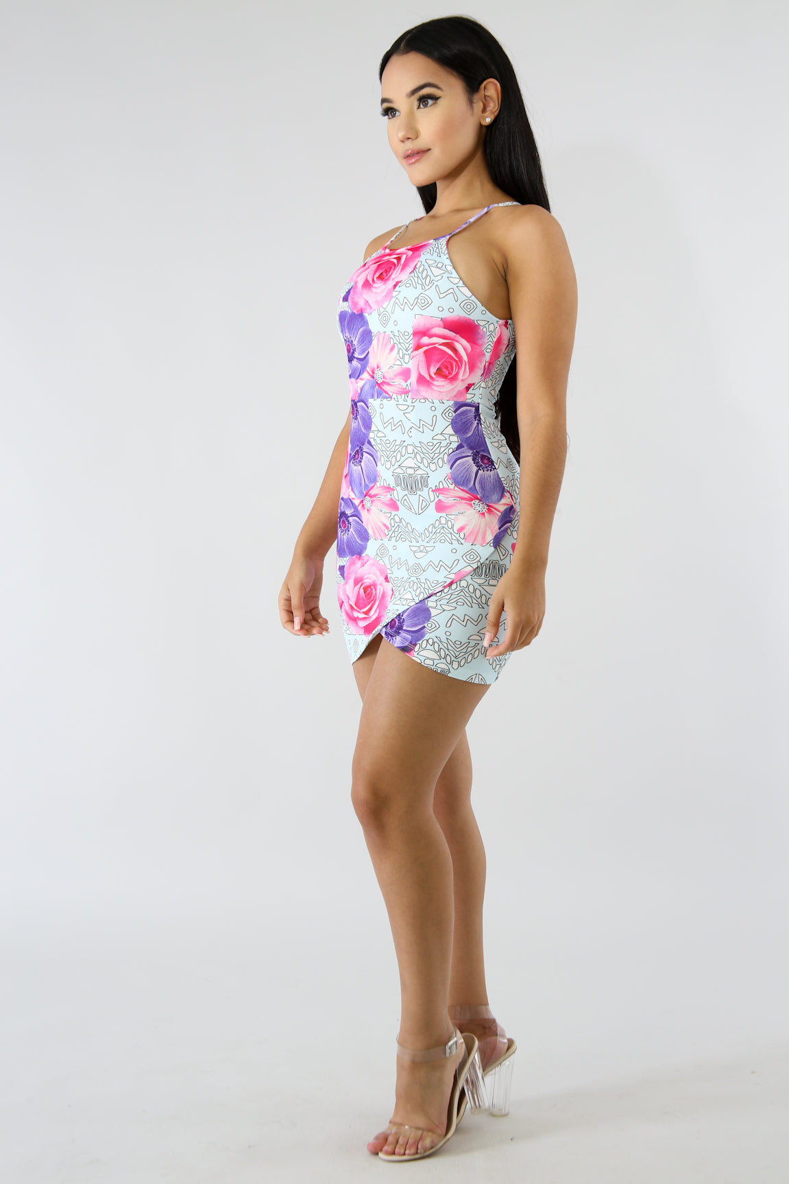 Floral Blossom Body-Con Dress