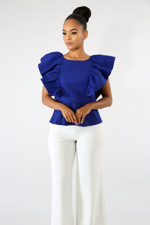 Elegance Ruffle Top | GitiOnline
