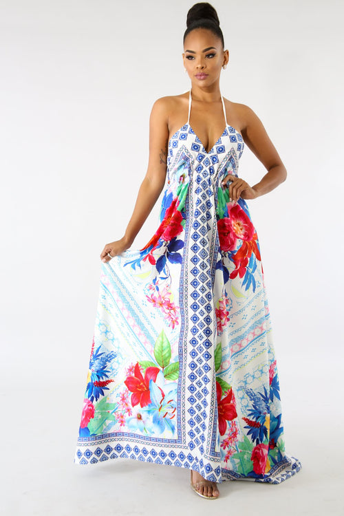 Bohemian Floral Handkerchief Dress