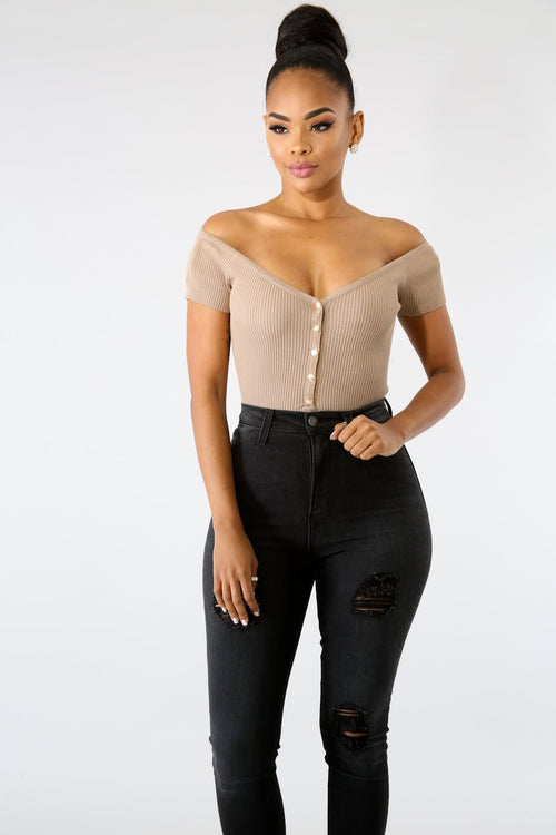 Button Rib knit Bodysuit | vendor-unknown
