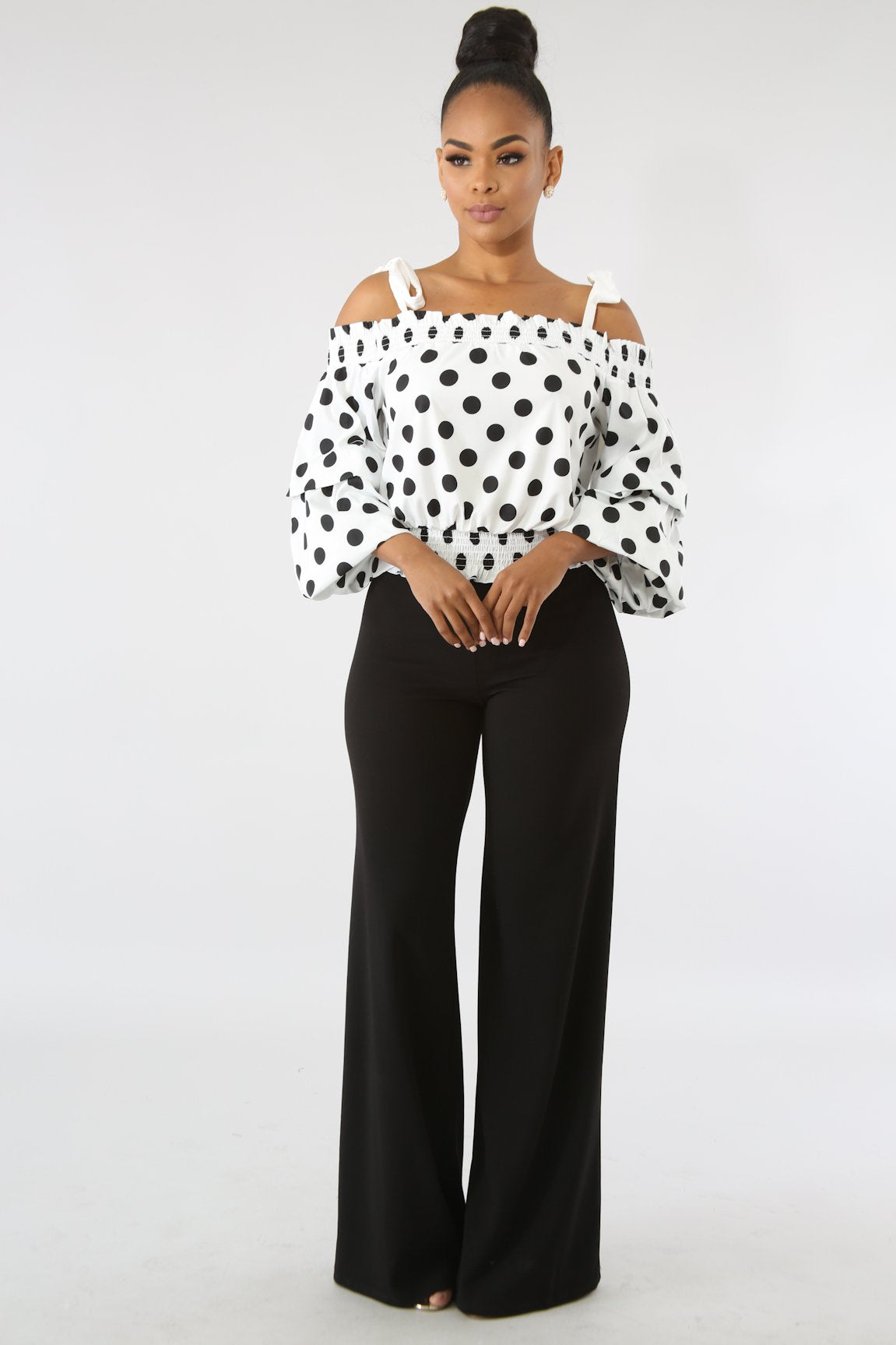 Polka Dot Tie Top | GitiOnline