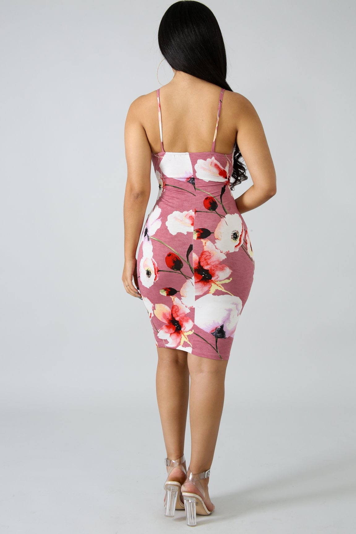 Floral Cut Out Body-Con Dress | GitiOnline