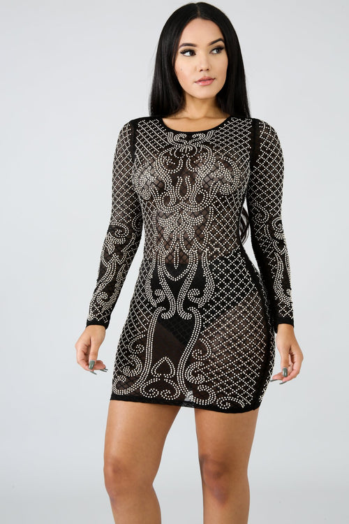 Glamorous Long Sleeve Dress | GitiOnline
