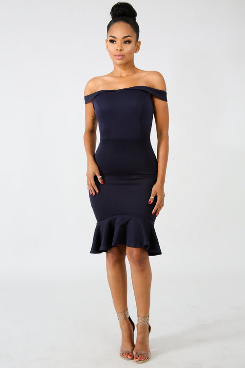 Dainty Flare Body-Con Dress | GitiOnline