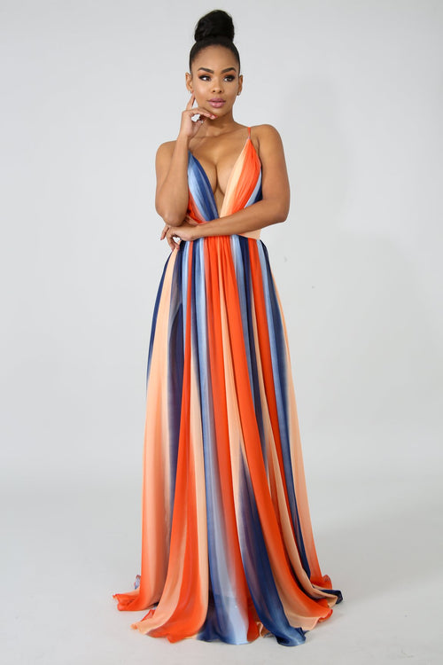 Drift Color Maxi Dress