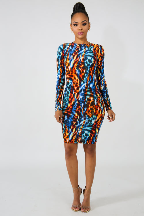 Leopard Infuse Body-Con Dress