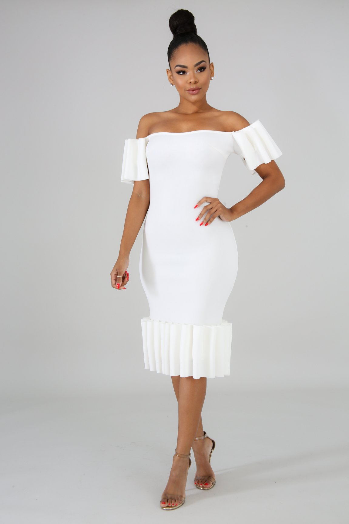 Pleats Midi Body-Con | GitiOnline