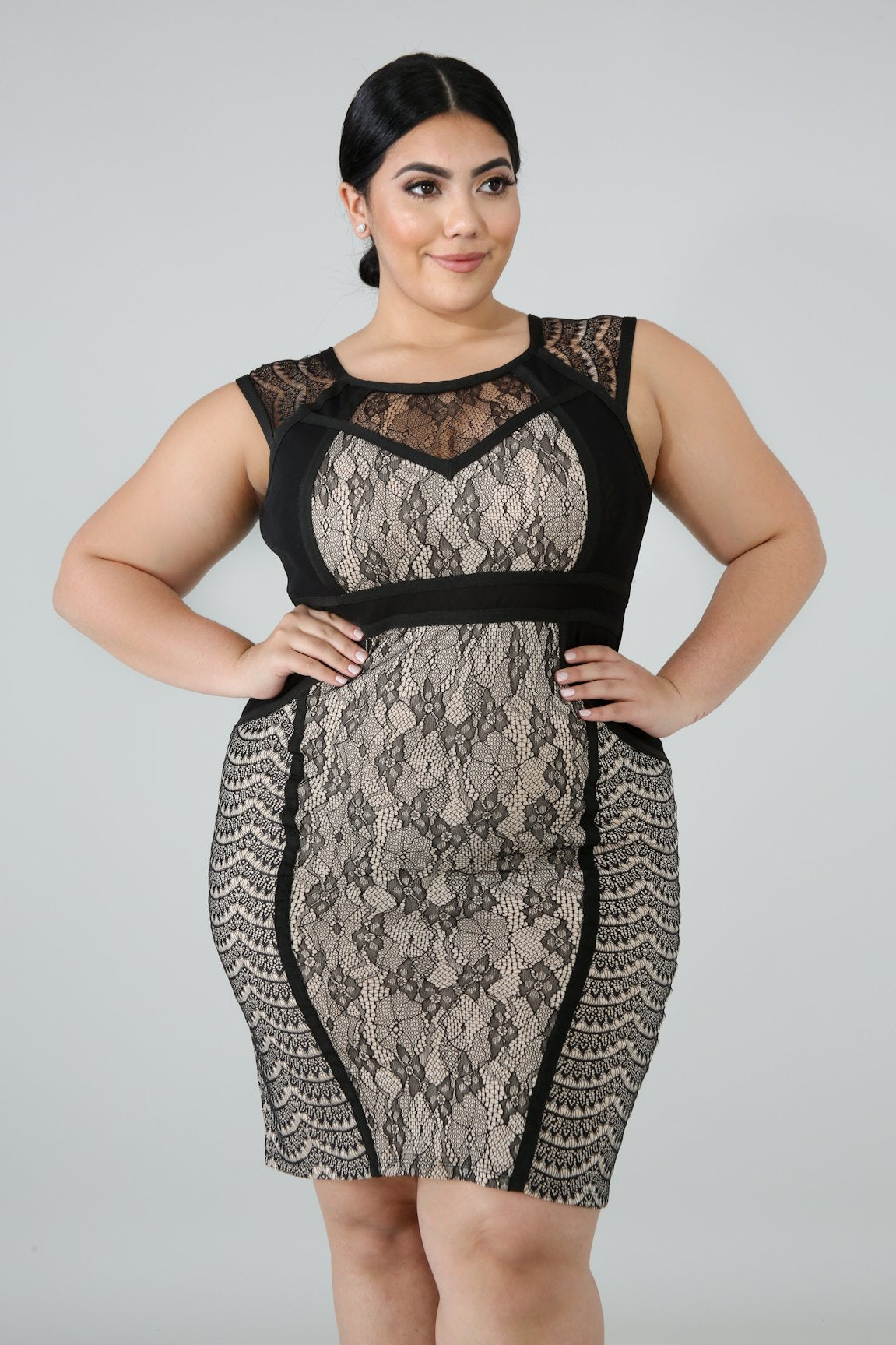 Sweet Lace Body-Con Dress