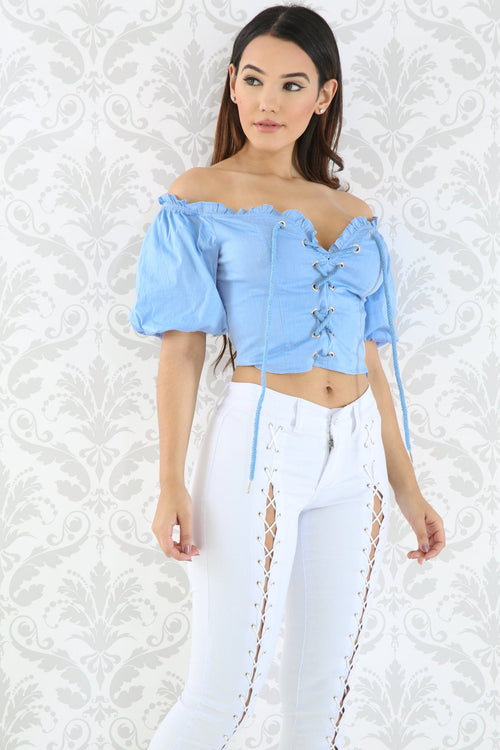 Corset Puff Crop Top