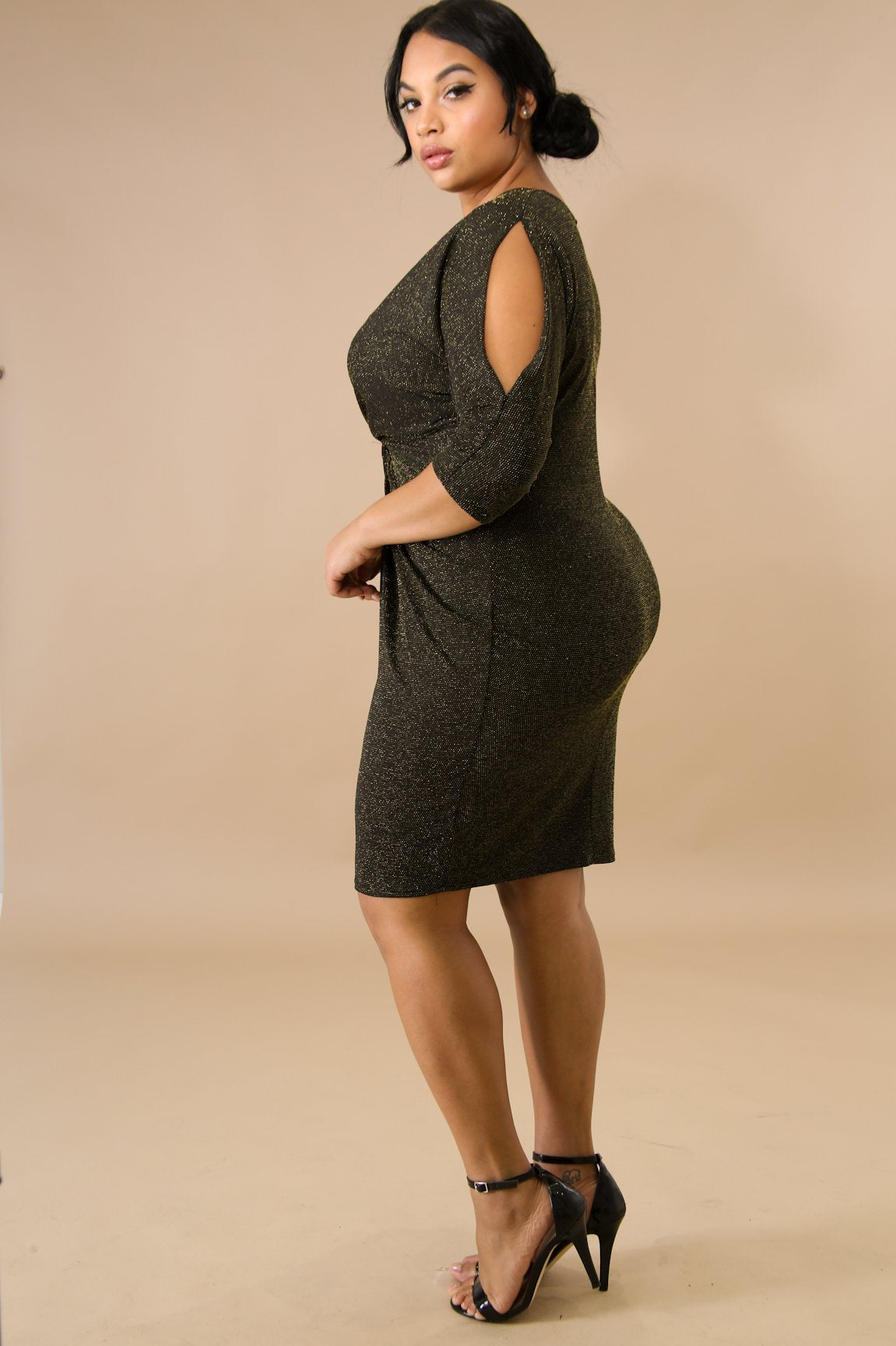 Shine Knot Body-Con Dress