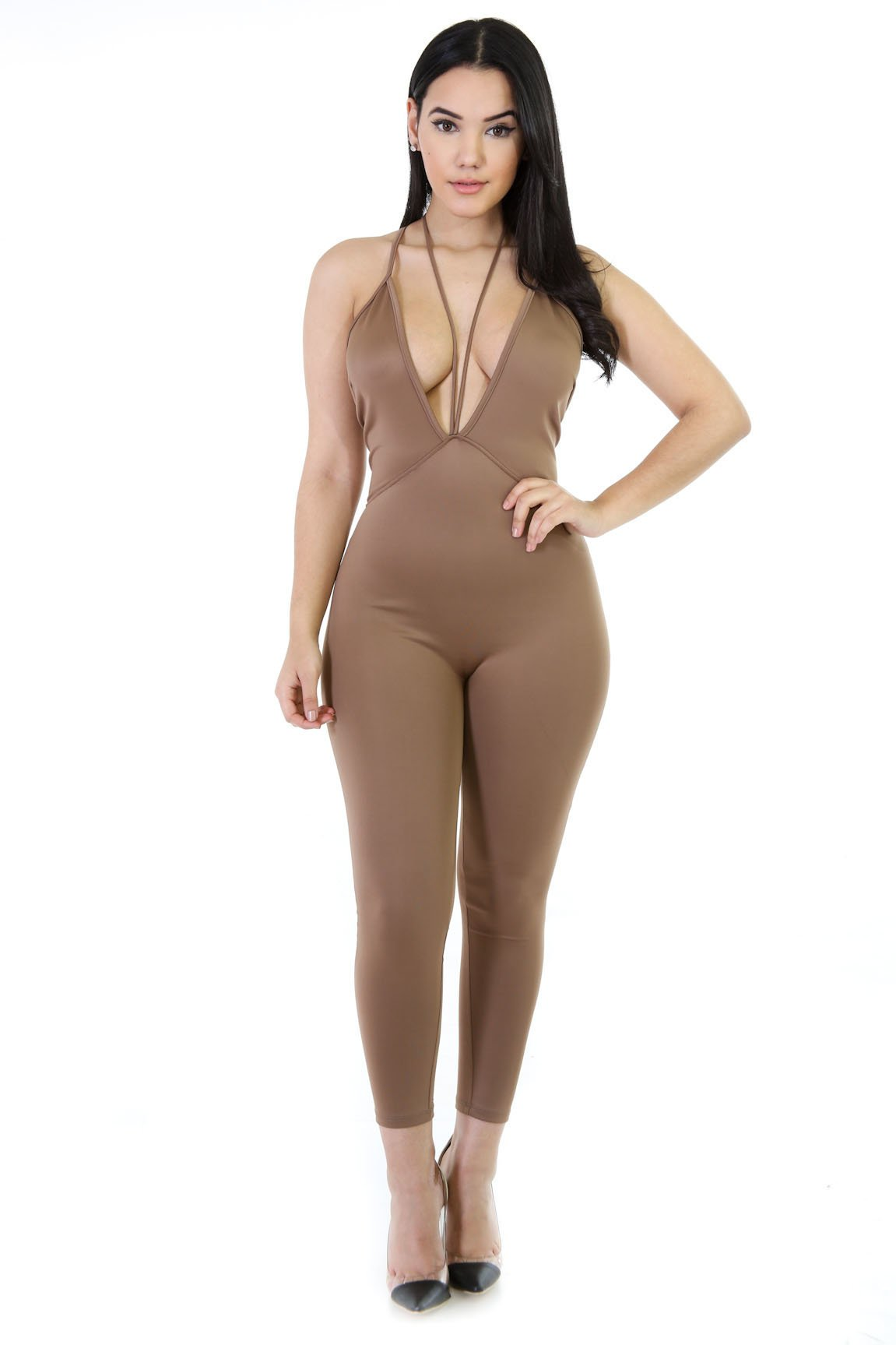 Strappy Lady Stretchy Jumpsuit