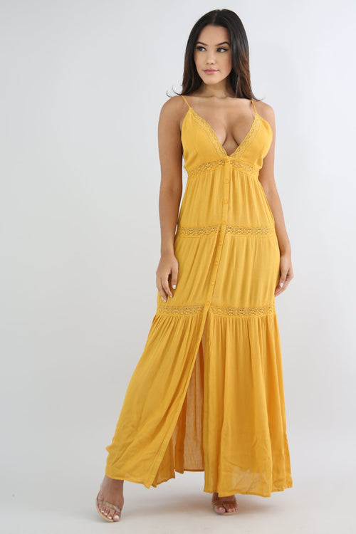 Sunset Lace Maxi Dress