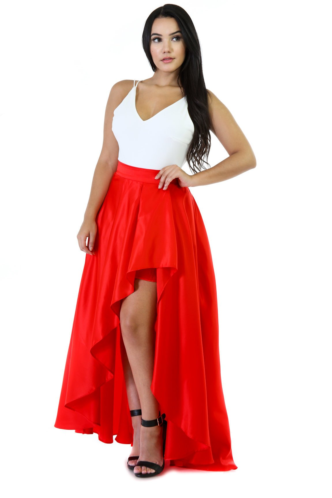 Maxi Comfortable Flare High-Low Skirt