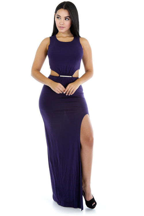 Indulge In My Cut Out Maxi Dress