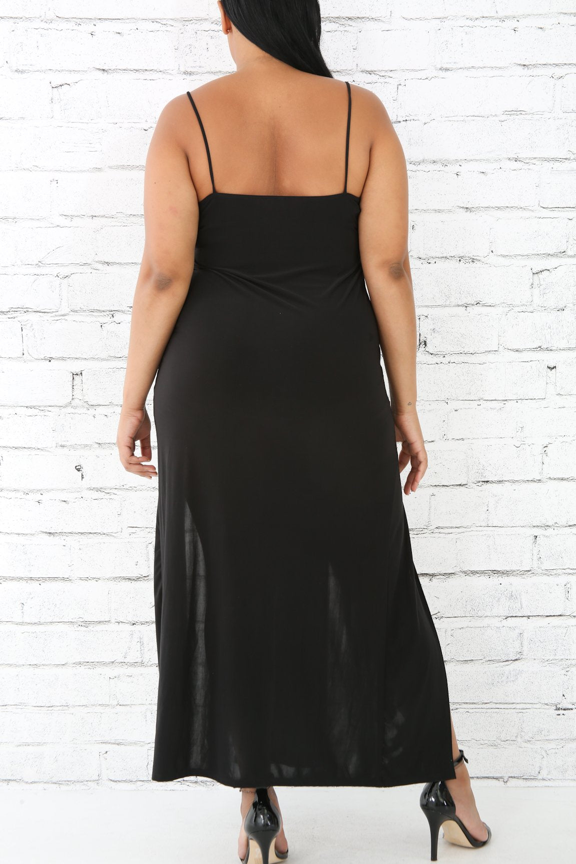 Cami Corset Slit Maxi Dress