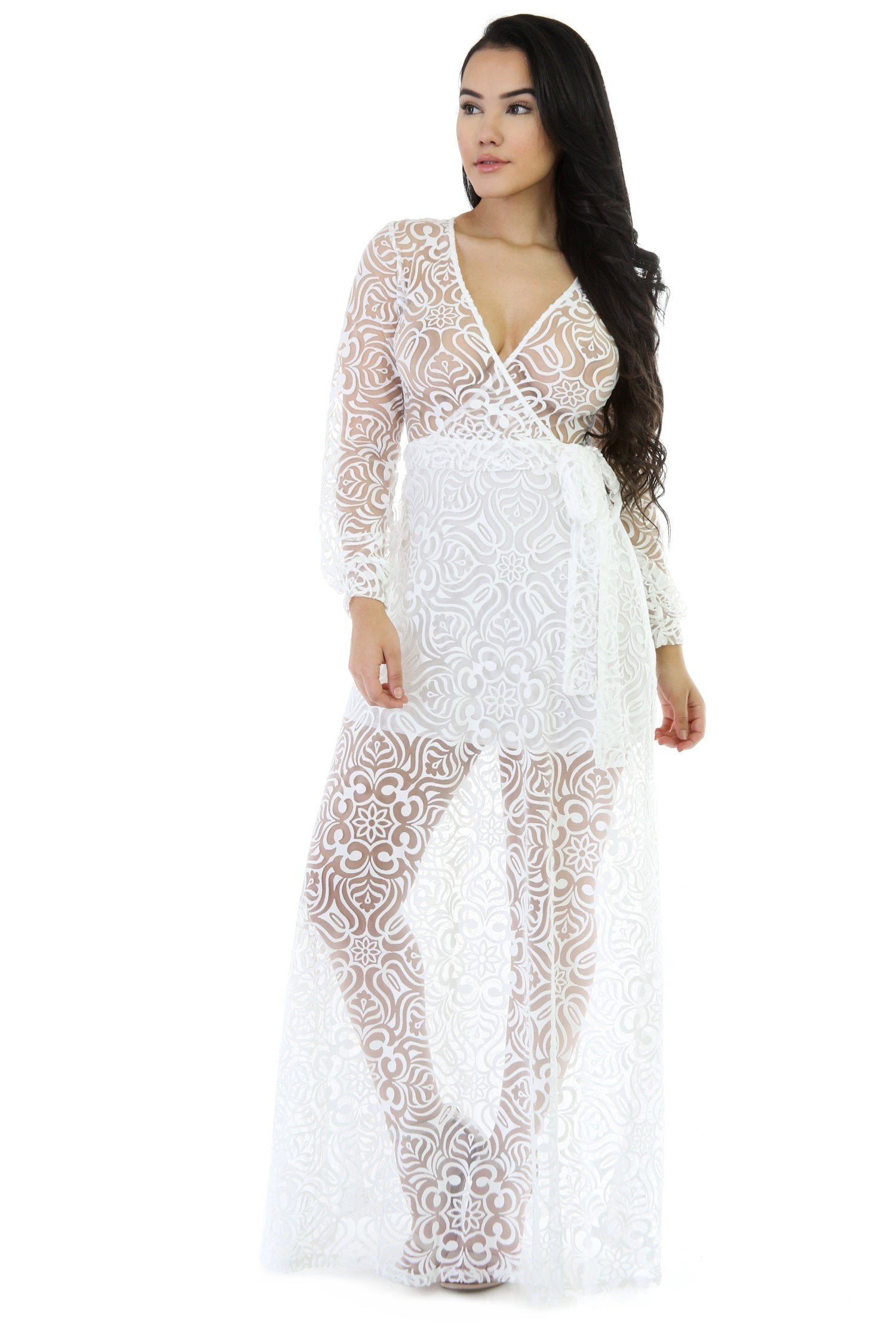 See Me Through Mesh Maxi Dress