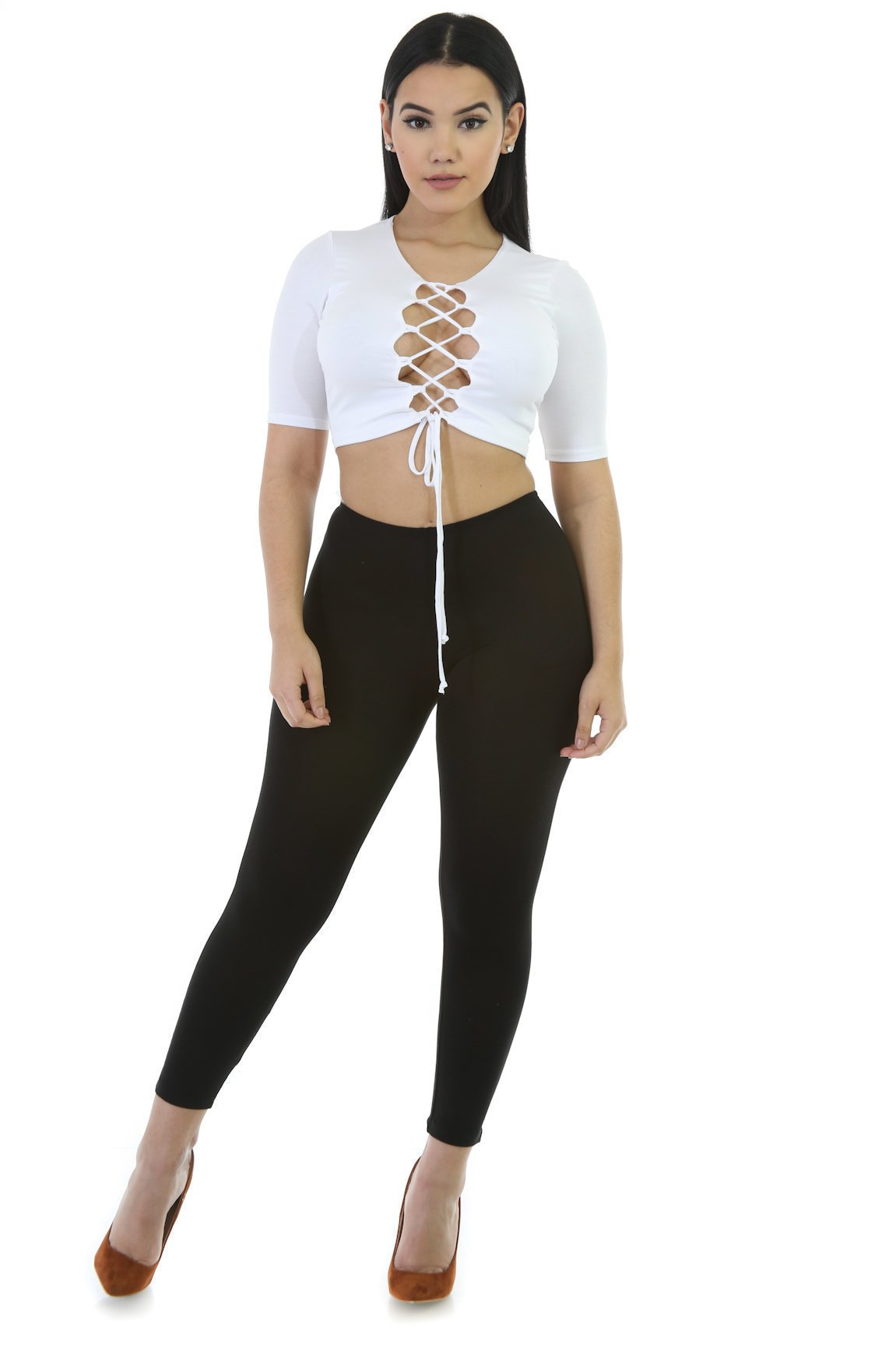 Sexy Back Lace-Up Crop Top
