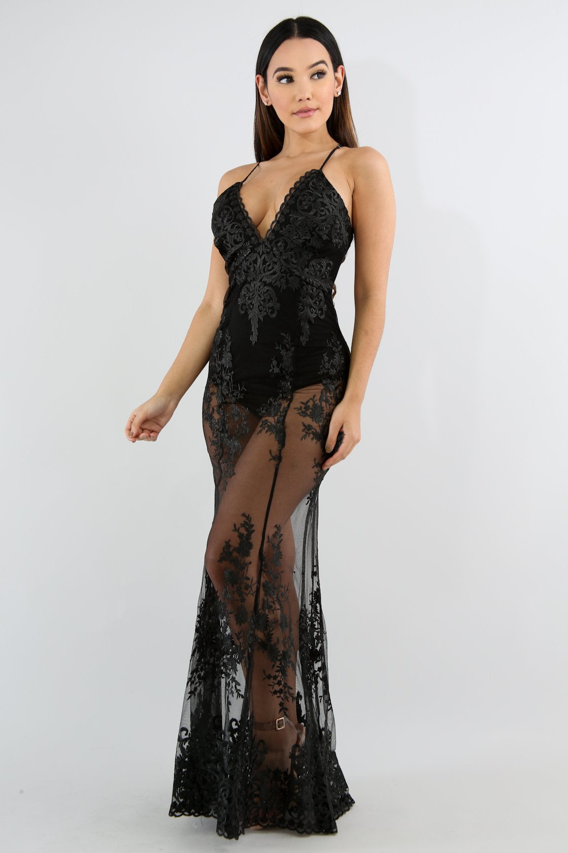 Maxi Diva Lace Mermaid Dress