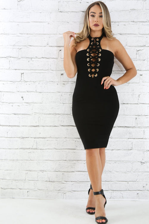 Corset Choker Body-con Dress