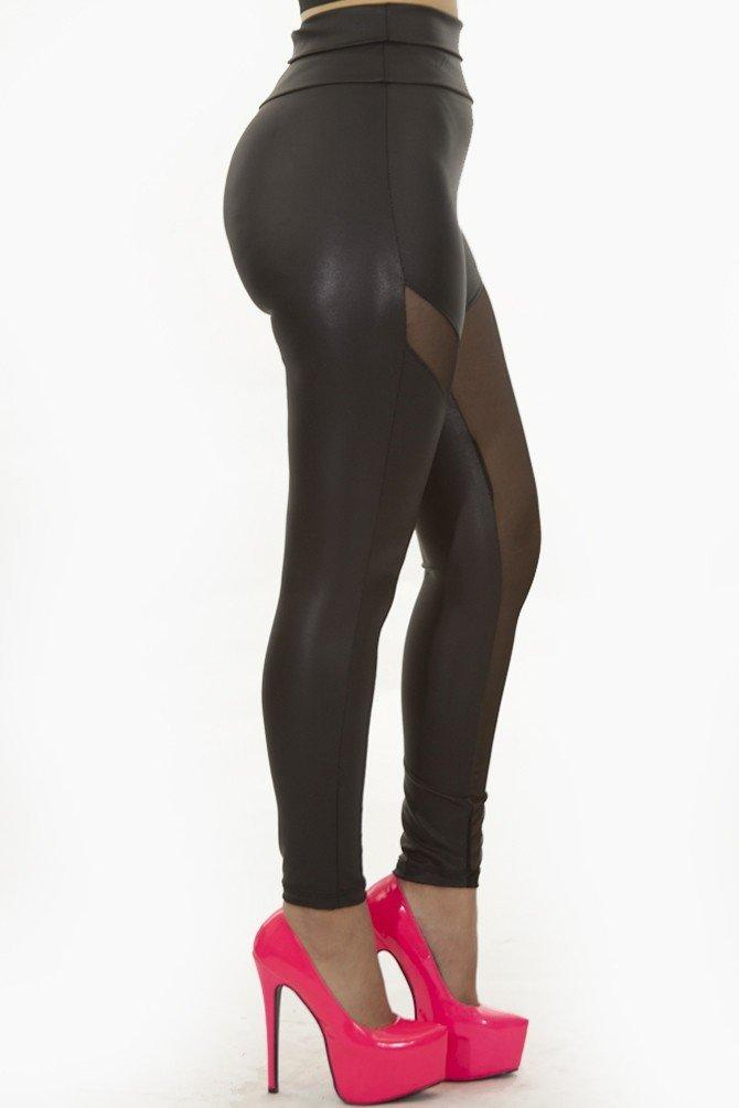 Mesh Metallic Leggings