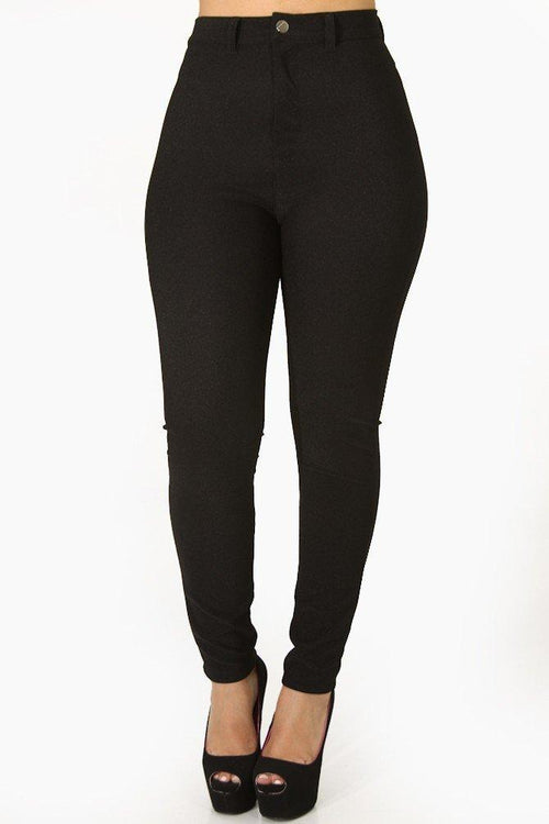 High Waist Skinny Dress Pants pockets