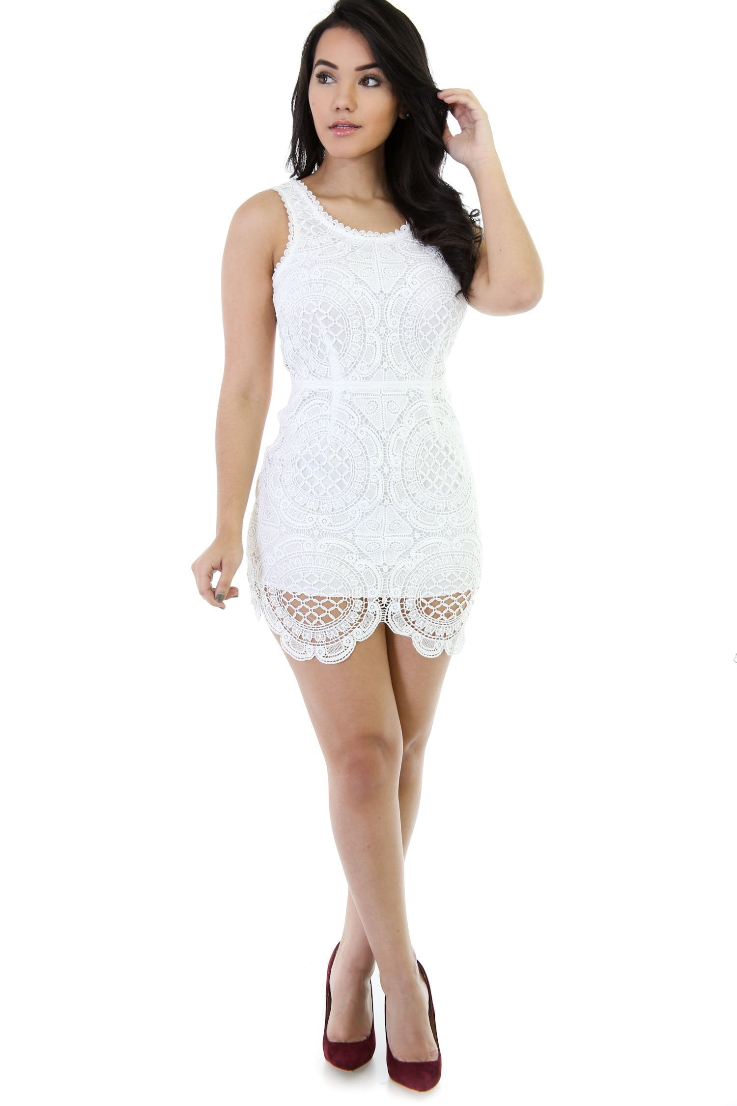 East Coast Crochet Mini Dress