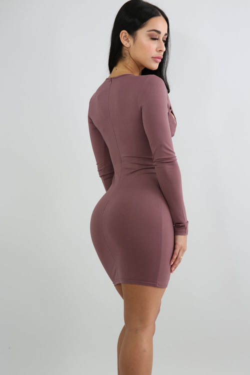 Ladder Up Body-Con Dress