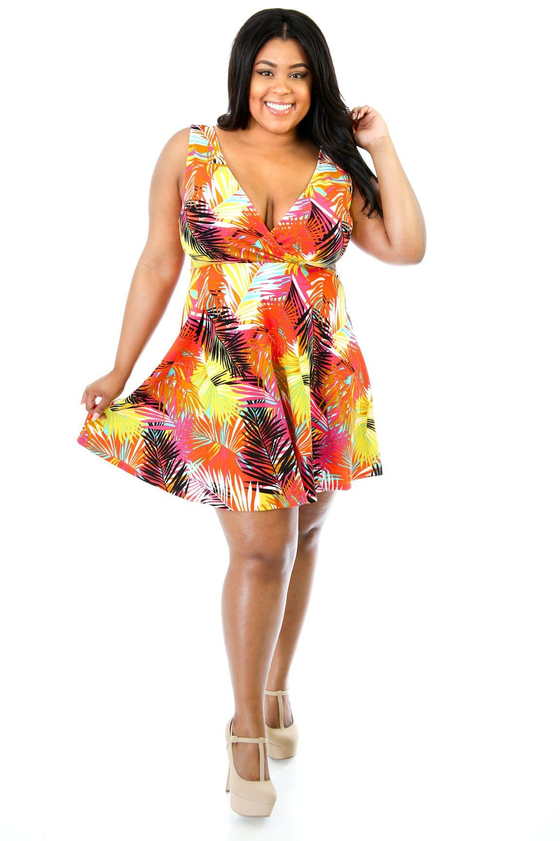 Colored Palm Trees Dress