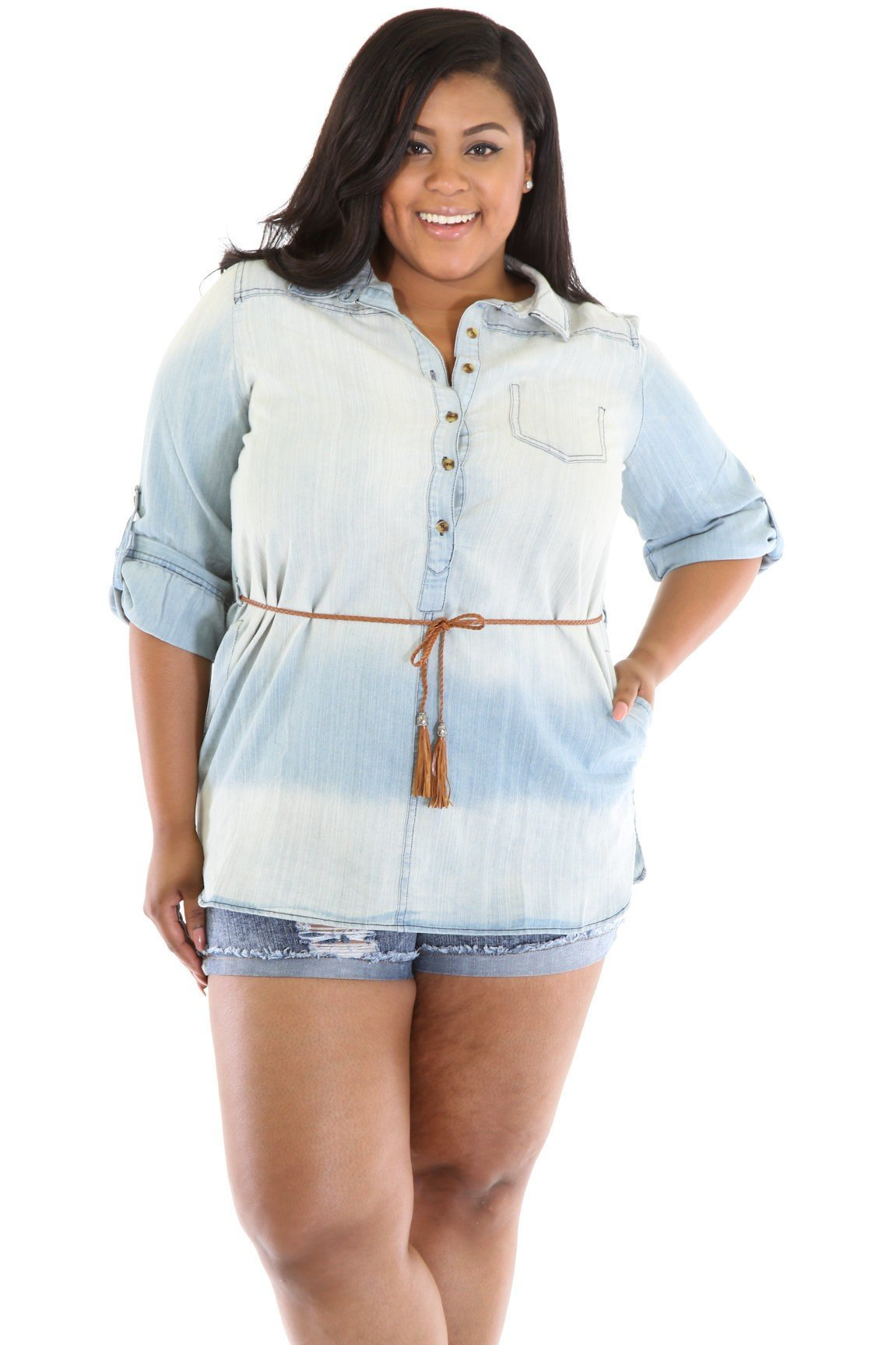 Cowgirl Denim Tunic Top